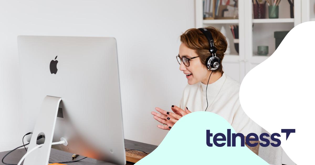 Softphone telness computer phone call