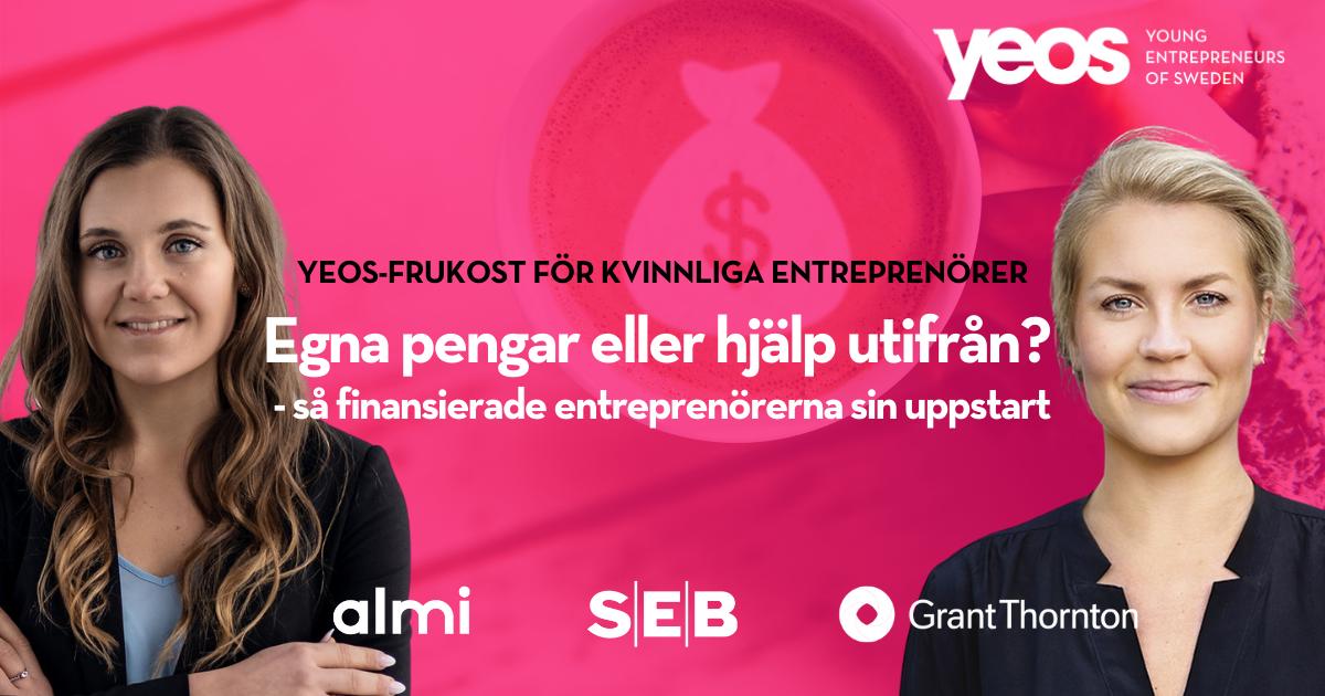 Martina gästar entreprenörsfrukost för kvinnor hos YEOS