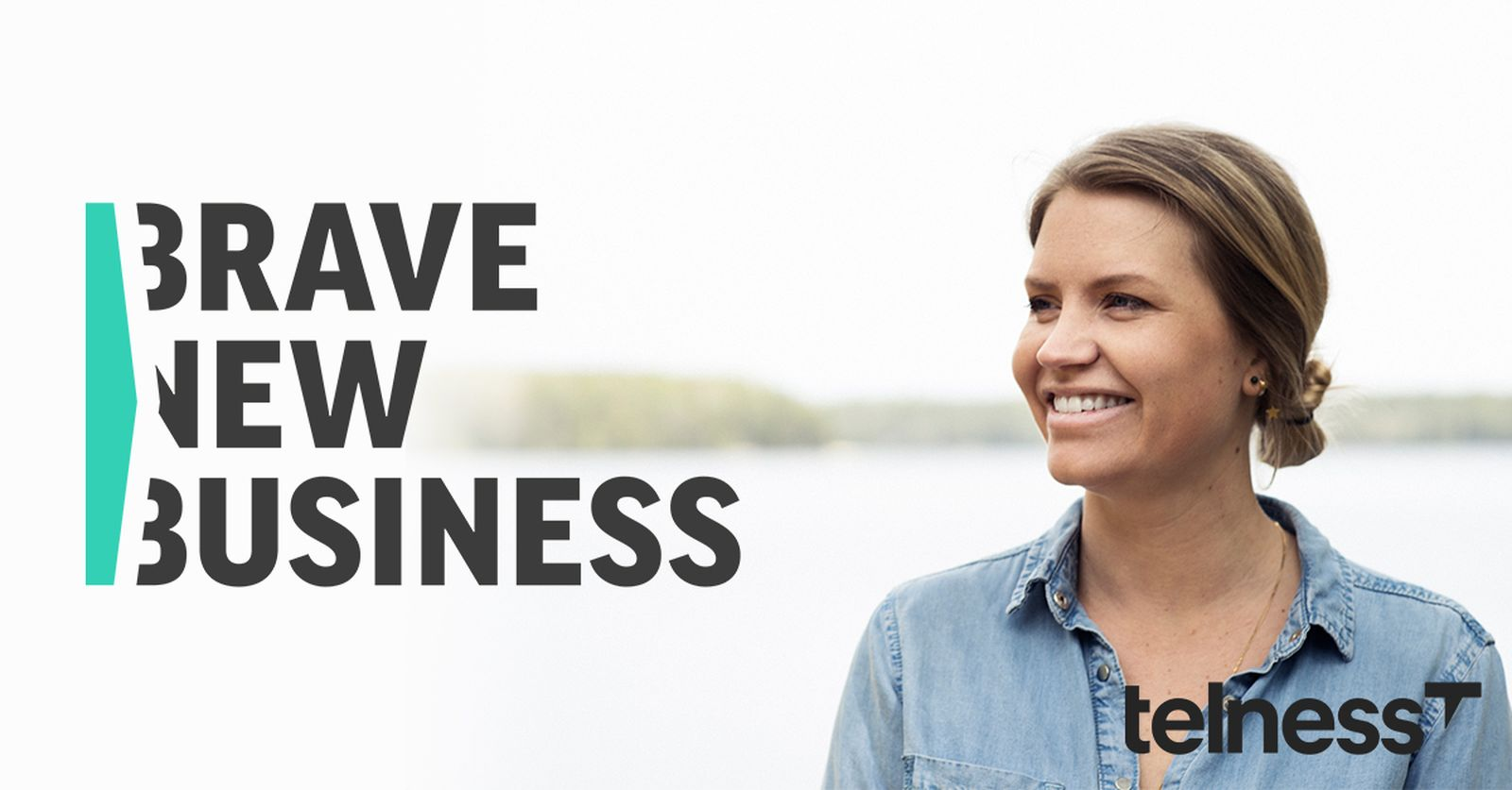 Martina Klingvall VD telness & brave new business logo