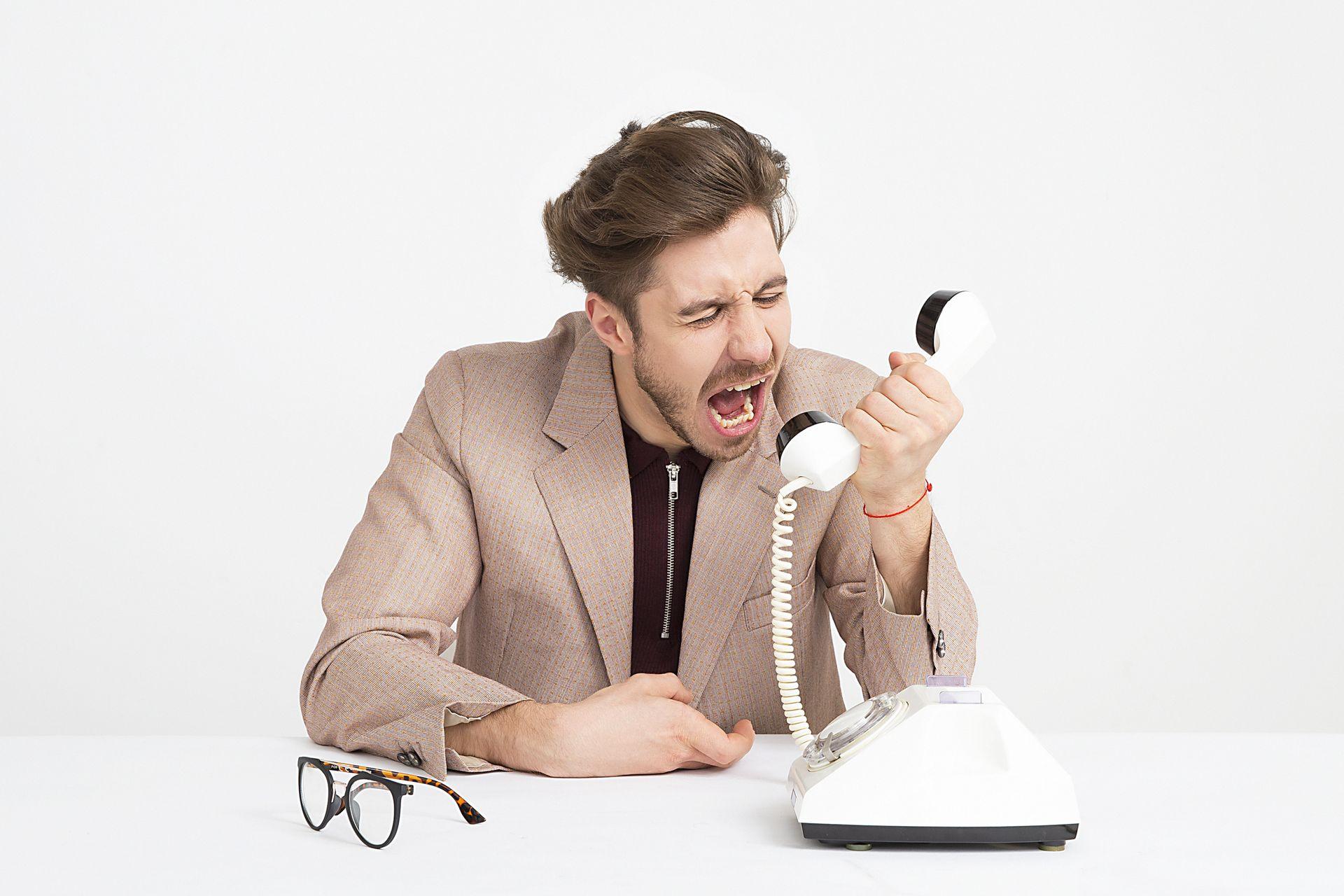 Telephone exchange customer angry