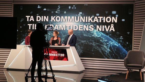 Martina Klingvall på inspelningen av Connect20