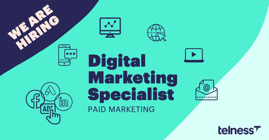 Digital Marketing Specialist (paid marketing) Telness job